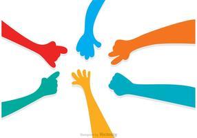 Hand, die Vektoren erreicht