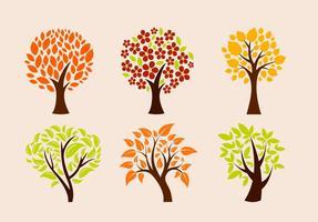 Ekologiska trädvektorer vektor