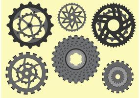 Cykel kedjehjul fri vektor