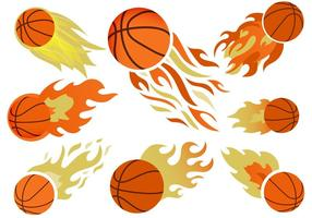 Basketball auf Feuer Free Vector