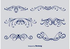 Kalligraphische viktorianische Ornamente vektor