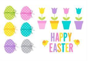Glad påsk Set vektor