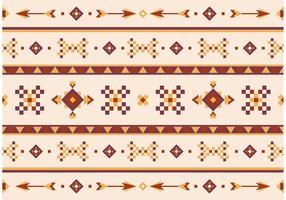 Native American Vector Mönster Med Pilar