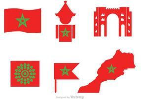 Marocko element ikoner vektor