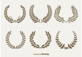 Kungliga laurelkransar vektor