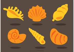 Samling av Sea Shell Vectors