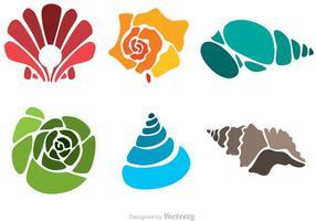 Färgglada havsskalvektorer vektor