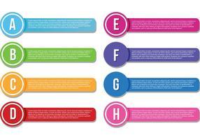 Textfeld Vorlagen Vektoren
