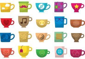 Hög te och kaffe rånar vektorer