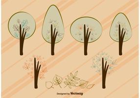 Herbst Vektor Baum Blätter