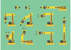 Industrial Claw Machine och Crane Vectors