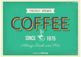 Vintage kaffeaffisch vektor