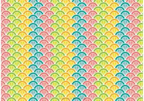 Bunte Pfau Schwanz Muster Vektor