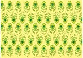 Lime Green Pfau Feder Muster Vektor