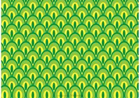 Grüner Pfau-Schwanzmuster-Vektor