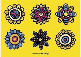 Handgezeichnete abstrakte Blumenvektoren