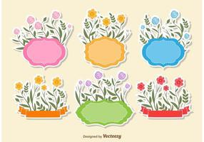Blumentextrahmen Vektoren