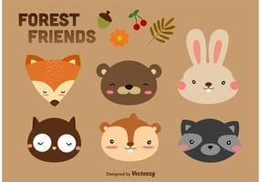 Wald Tiere Cartoon Vektoren