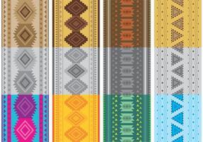 Indianska mönster vektorer