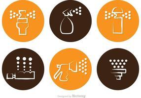 Moderne Rasen-Sprinkler-Ikonen-Vektoren