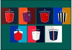 Shields Fußball Trikots Vektoren