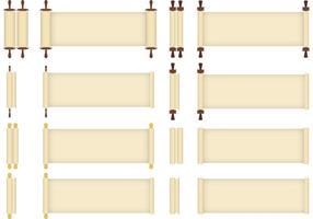 Scrolled Paper Papyrus Vektoren