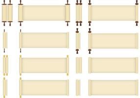 Scrolled Papyrus Vectors