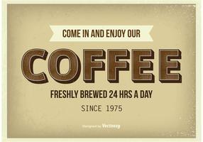 Weinlese-Kaffee-Plakat vektor