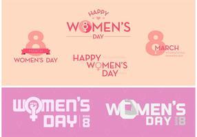 Kvinnodag fri vektor