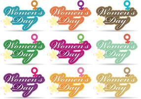 Frauen-Tag-Vektoren vektor