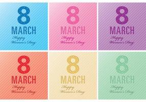 Frauen-Tageskarten-Vektoren