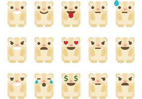 Meerschweinchen Emoticon Vektoren