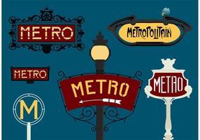 Paris metro freien vektor