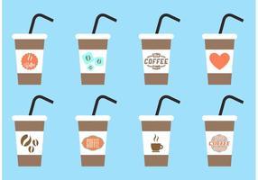 Iced Kaffee Vektoren