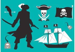 Piratenvektoren vektor