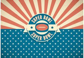 Gratis Super Bowl Retro Vector Bakgrund
