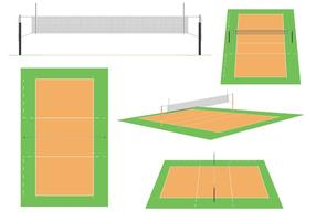 Volleyball Court Vectors