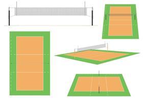 Volleyballgerichte vektor
