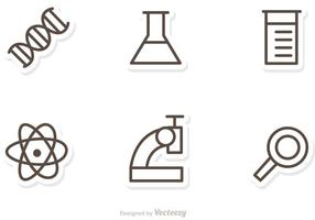 Umriss Wissenschaft Icons Vektor