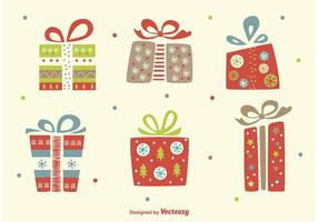 Weihnachten flache Vektor Geschenke