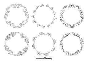 Dekorative Rahmen Set vektor