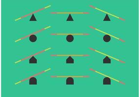 Minimalism Se Såguppsättning vektor