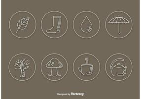 Herbst Vektor Linie Icons