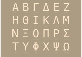 Kondenserad Sans Serif Grekisk Alfabet Set