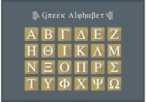 Grekisk Alfabet Platt Ikon Brev Vector Gratis