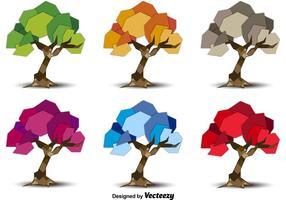 Saisonale Geometrische Bäume