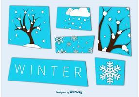 Winter Saison Ausschnitt Grafiken