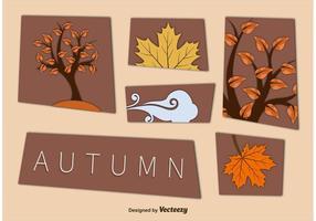 Herbst Ausschnitt Vektor Elemente