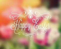 Gratis Happy Easter Typography vektor