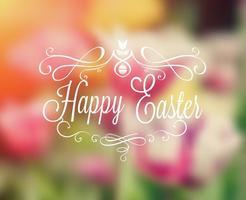 Gratis Happy Easter Typography vektor